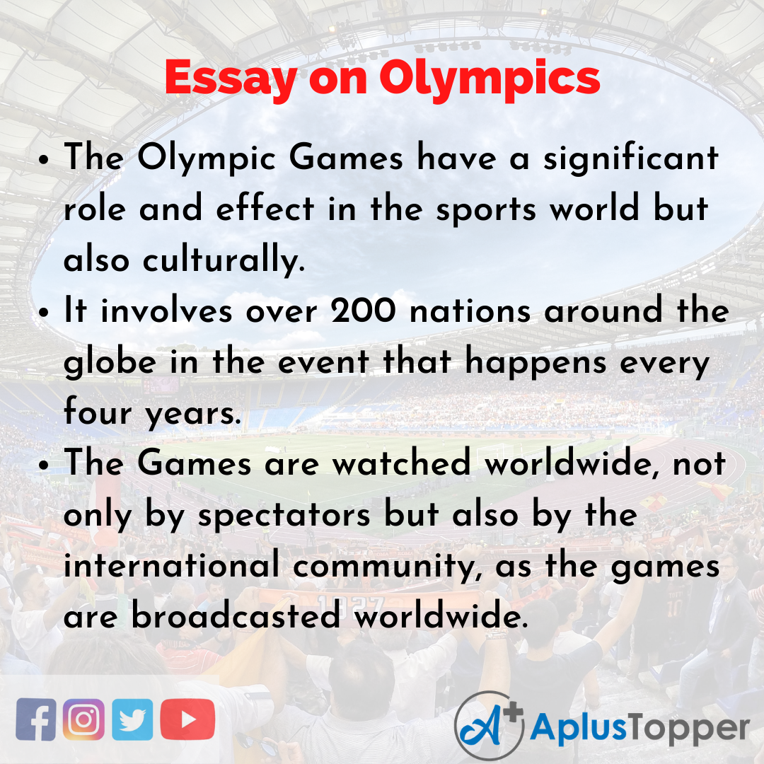 Short Essay on Olympics