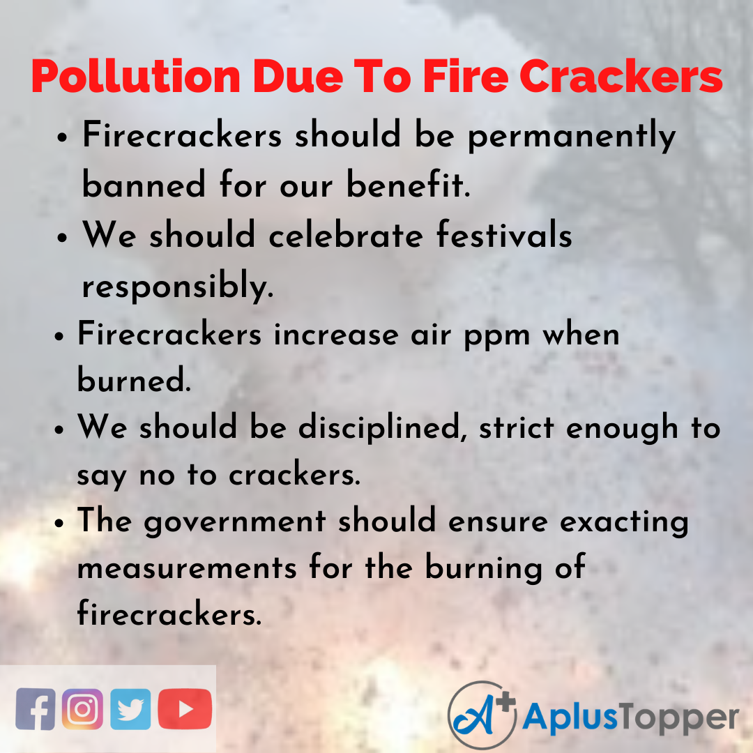 Short Essay on Pollution Due To Fire Crackers