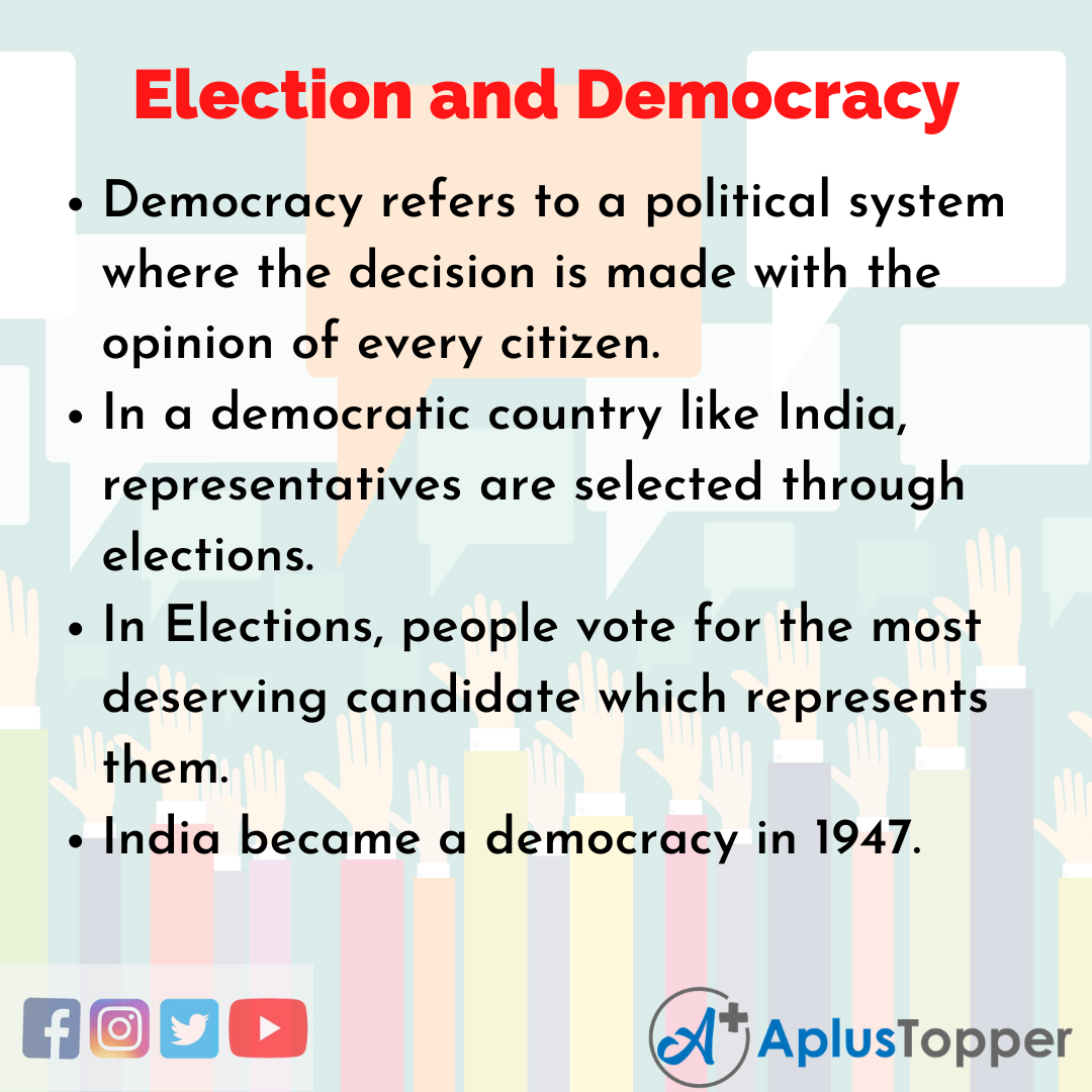 10 Lines on Election and Democracy Essay