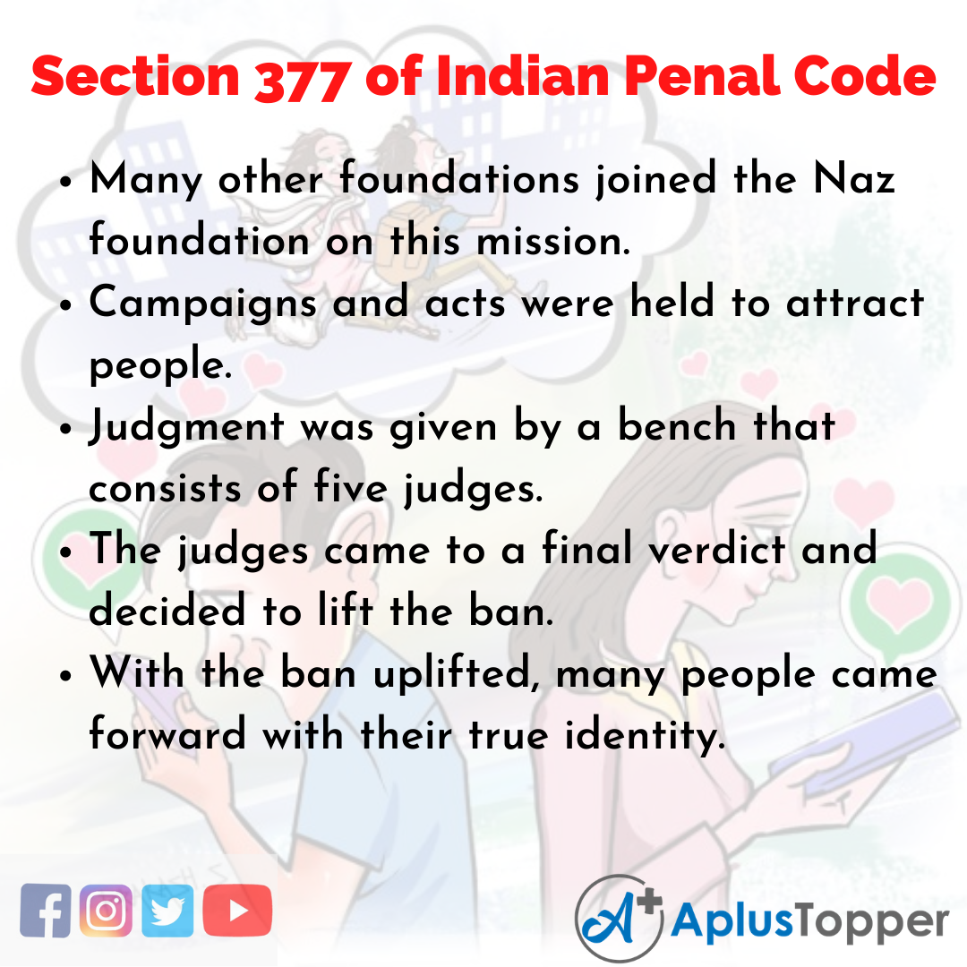 10 Lines on Section 377 of Indian Penal Code Essay