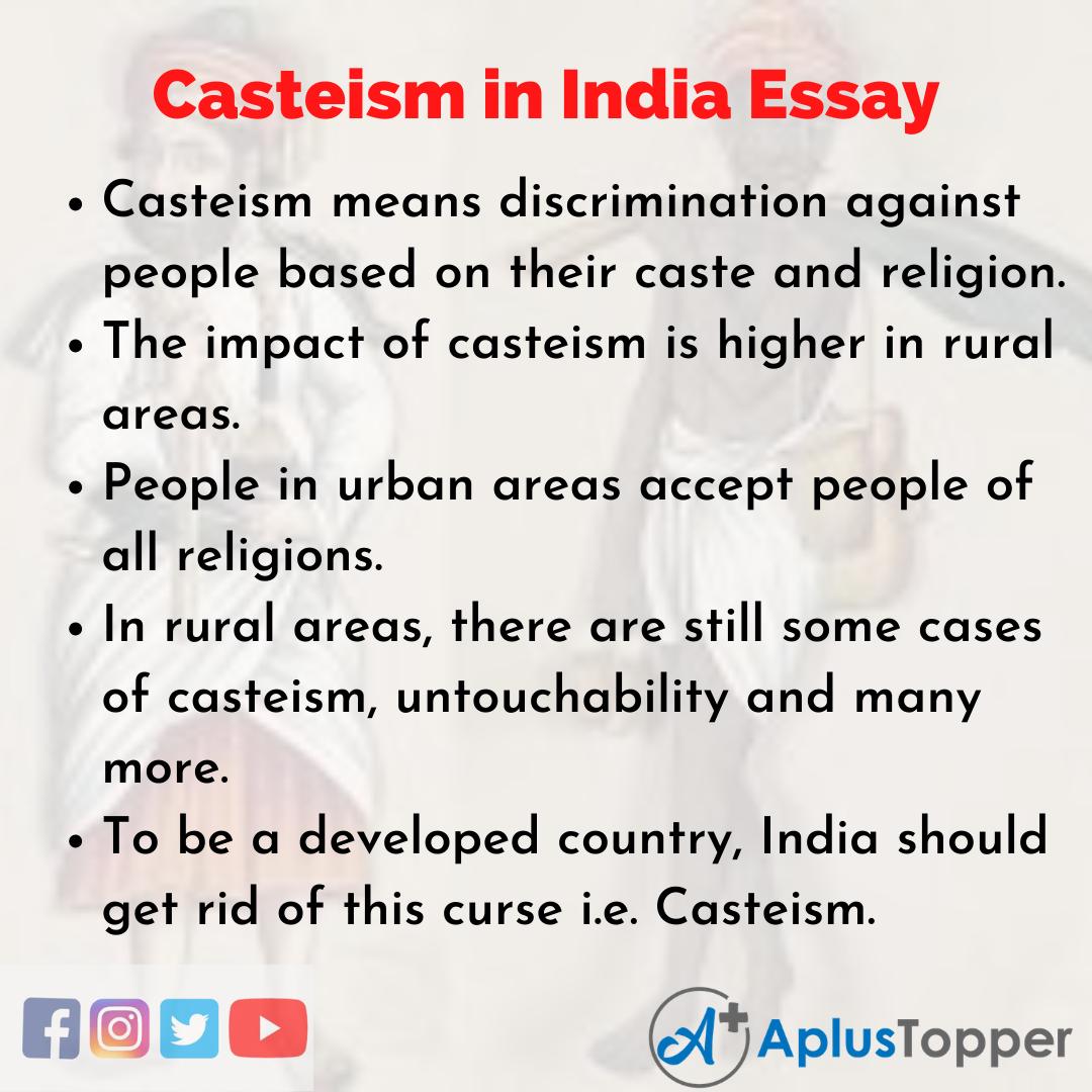 _Casteism in India Essay