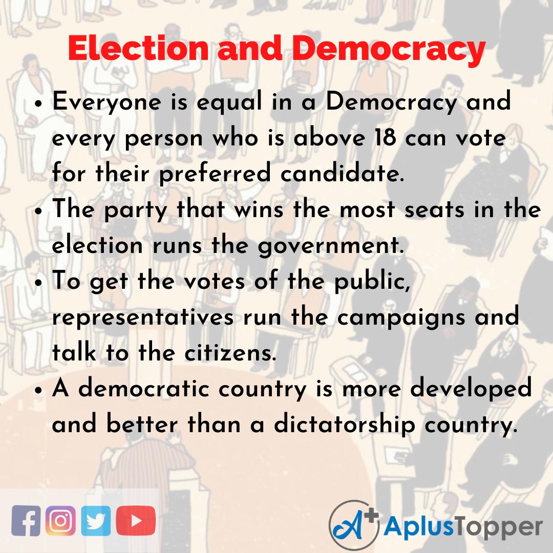 Election and Democracy Essay