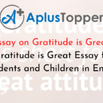 Essay on Gratitude is Great