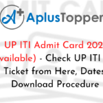 UP ITI Admit Card