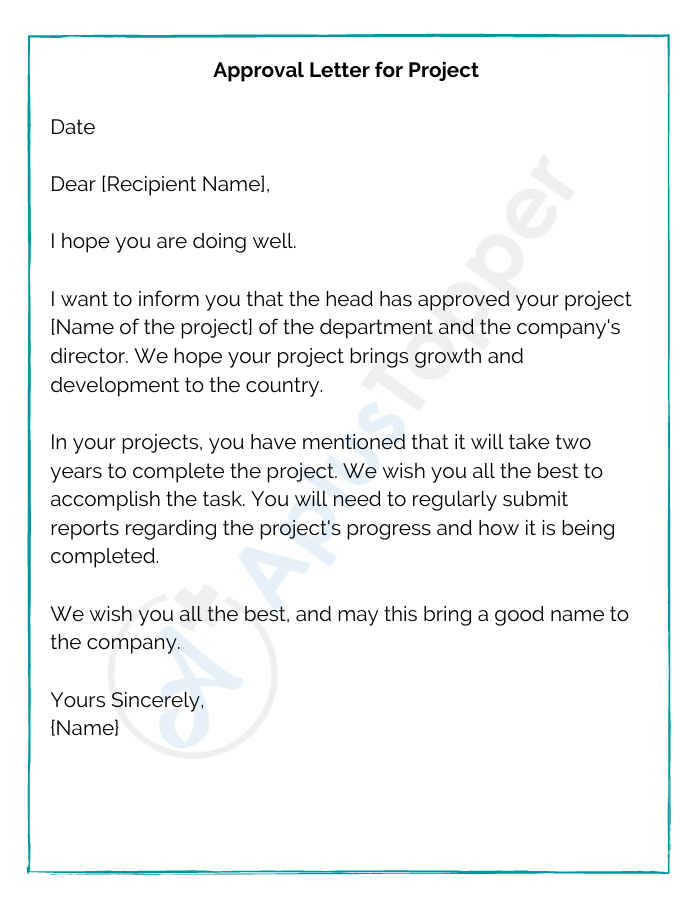 Approval Letter for Project