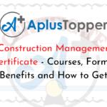 Construction Management Certificate