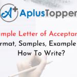 Sample Letter of Acceptance