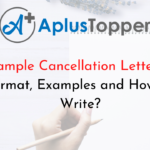 Sample Cancellation Letters