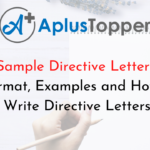Sample Directive Letters