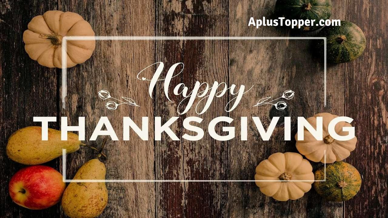 Short Essay on Thanksgiving