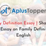 Family Definition Essay