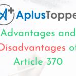 Article 370 Advantages And Disadvantages