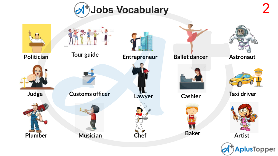 Jobs Vocabulary With Images