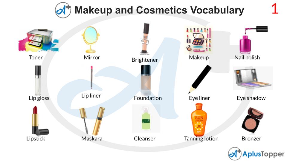 Makeup and Cosmetics Vocabulary