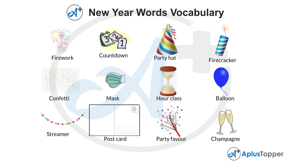 New Year Words Vocabulary