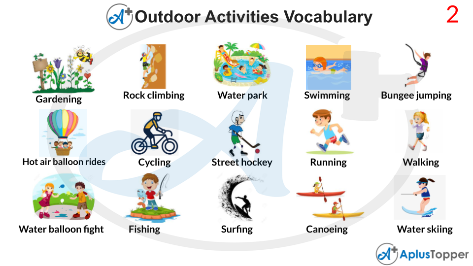 Outdoor Activities Vocabulary With Images