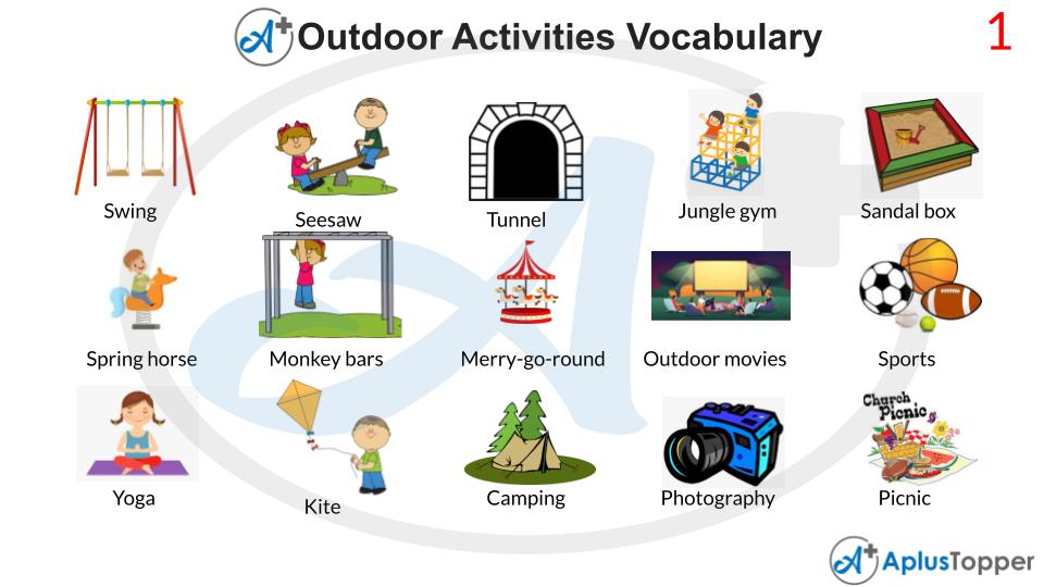 Outdoor Activities Vocabulary