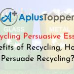 Recycling Persuasive Essay