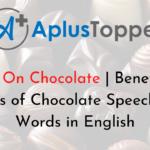 Chocolate Speech