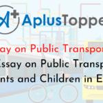 Essay on Public Transport